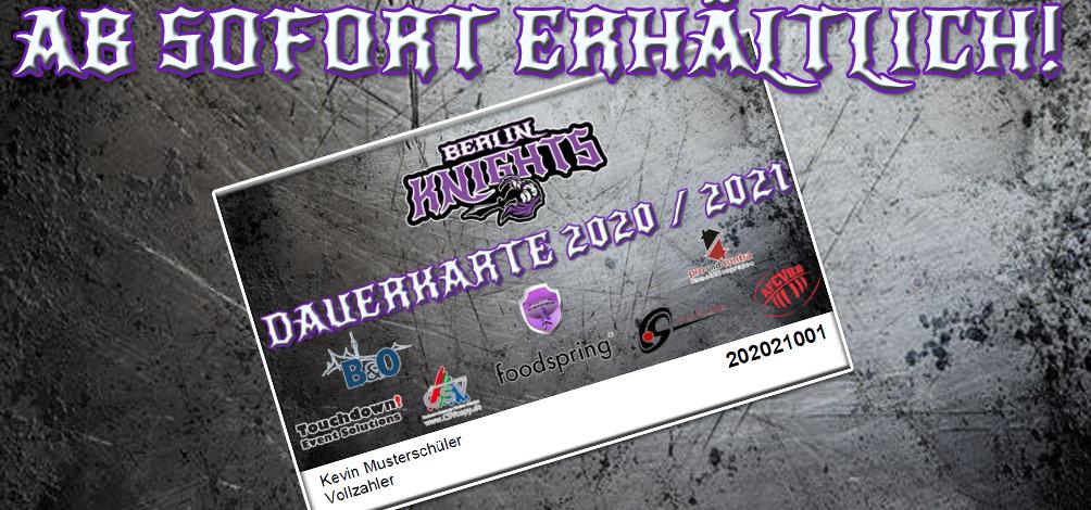 Jetzt die Knights unterstützen – Dauerkarte 2020/2021 kaufen